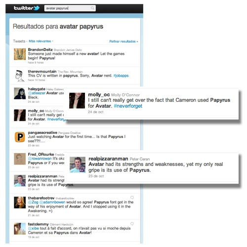 Dissenart, Avatar Papyrus Búsqueda en twitter