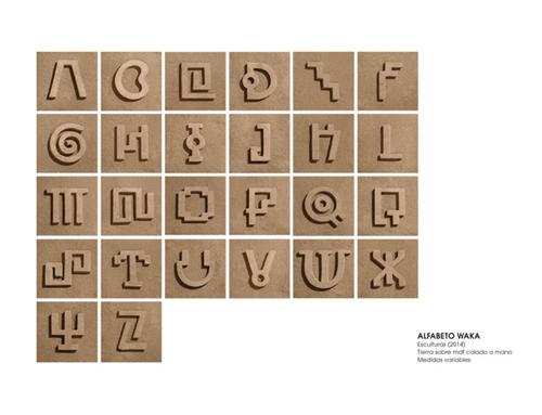 Waka, una tipografía experimental inspirada en la cultura milenaria del Perú